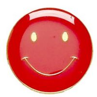ButtonBadge20 Smile Red-SB001R